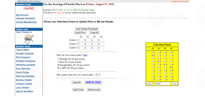 Play Florida Pick 4 twice a day